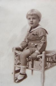 Robert Caldwell just after his 1st Haircut, Age 5