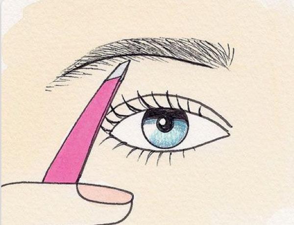 眉毛の毛抜