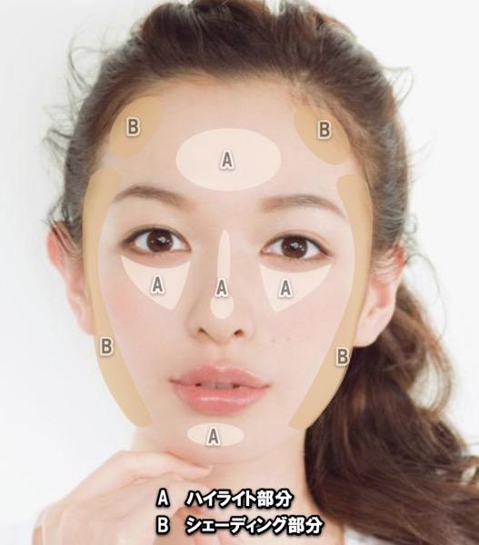 子顔に見せるファンデーション2色使い
